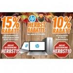 Herbstrabatte auf HP Aktionsprodukte