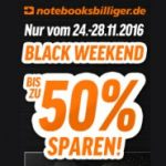 Black Weekend Notebooksbilliger.de - bis zu 50% Rabatt auf Technik