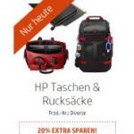 HP Adventskalender 2016: 20% Rabatt HP Taschen & Rucksäcke (01.12)