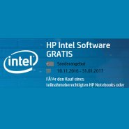 HP Intel Aktion : Gratis Software bis zu 440 Euro Wert