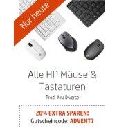 HP Adventskalender: 20% EXTRA auf Tastaturen und Mäuse
