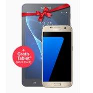 Beim o2 Wow der Woche gibt es bis 15.12.2016 das Samsung Galaxy S7 Smartphone plus ein Gratis Tablet für nur 29,99 Euro* monatlich (* ab 13. Monat 39,95)! Damit spart man in Verbindung mit dem O2 Free S Tarif bis zu 268,99 Euro! Der Tarif bietet u.a. eine Allnet- und SMS-Flat, 1 GByte Turbo Datenvolumen und danach unendlich surfen mit bis zu 1 Mbit/s sowie 1GByte EU-Flat. Natürlich sind auch weitere Tarifkombinationen denkbar. Und beim o2 Weekend Deal gibt es vom 2. Dezember bis zum 4. Dezember 24x5€ Aktionsrabatt! Zudem gibt es die Allnet-Flat, EU-Roaming Flat und Turbo-Datenvolumen obendrauf. So zahlt man z. B. beim Tarif o2 Free M mit 2 GByte Turbo Datenvolumen plus o2 free (unendlich surfen mit 1 MBit/s nach Verbrauch des Turbo Datenvolumens), Allnet- und SMS-Flat sowie 1 GByte E-Flat bis 04.12.2016 dank des Weekend Rabatts statt 34,99 nur 24,99 in den ersten 12 Monaten (24 x 5 Euro Rabatt Weekend Deal + 12 x 5 Euro Online Rabatt) , ab dem 13. Monat dann 29,99 Euro statt 34,99 dank des Weekend Deals, der ja 24 Monate gilt. Zudem gibt es im Moment eine Anschlusskosten Befreiung, was ja auch normalerweise 29,99 kostet, entfällt im Moment. Auch hier gilt: andere Tarife sind verfügbar und wer möchte, der kann auch gegen Aufpreis ein Smartphone dazu buchen. Mehr Informationen zum o2 Weekend Deal findet man hier (o2 Wow der Woche)