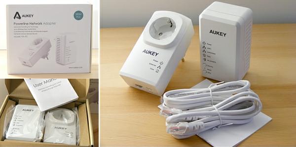 AUKEY Powerline 2.4 GHz Wlan Netzwerkadapter Set