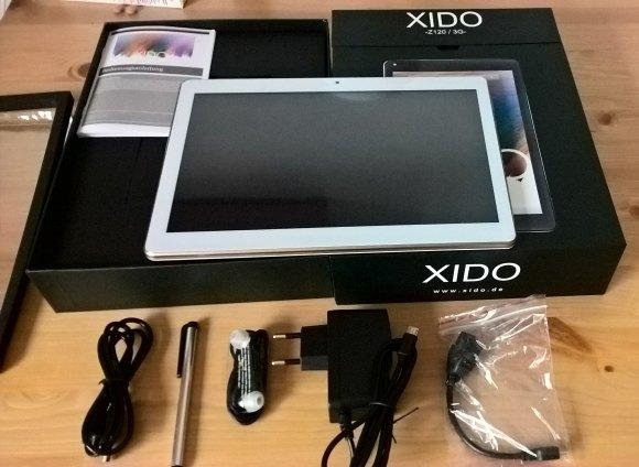 XIDO Z120/3G Tablet - Zubehör und Verpackung