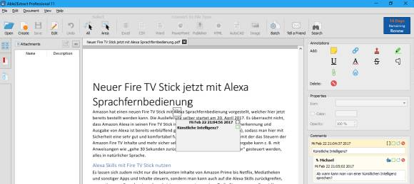 Able2Extract Professional 11 PDF-Dokumente in ein Office Format konvertieren