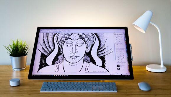 Corel Draw 2017 mit Surface-Dial Addin und Live Sketch