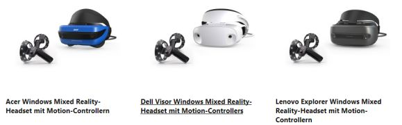 windows mixed reality headsets im Microsoft Sore