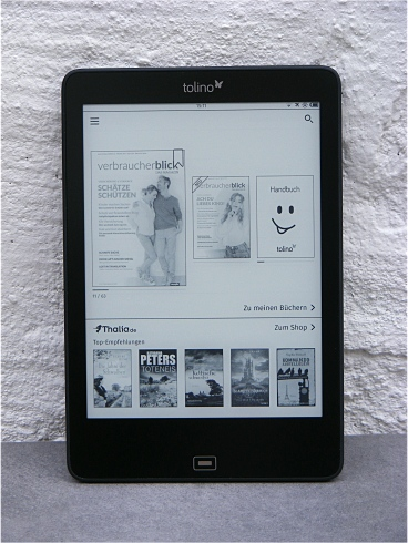 "tolino epos - 7.8"" e Ink Carte eBook Reader mit smartLight"