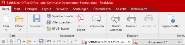 SoftMaker Office: mehrere Dokumente in der Registerkarten geöffnet