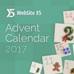 WebSite X5 Adventskalender: Extras für die Webdesign Software