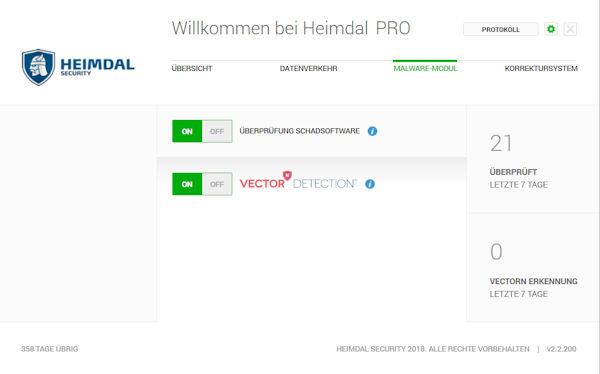 Heimdal Security Malware Modul