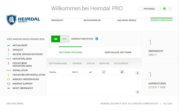 Heimdal Security Software-Management