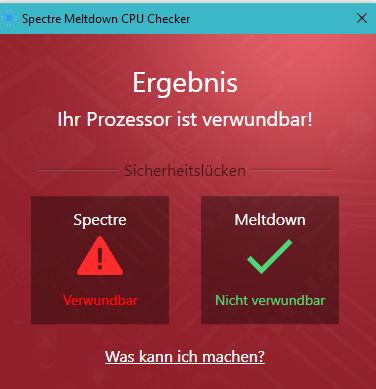 spectre meltdown cpu checker