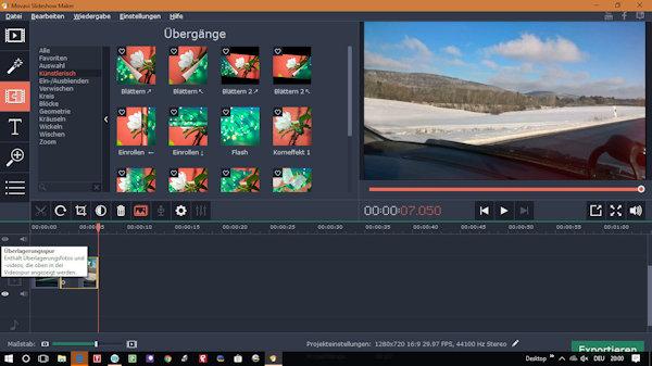 Movavi Slideshow Maker - Übergänge