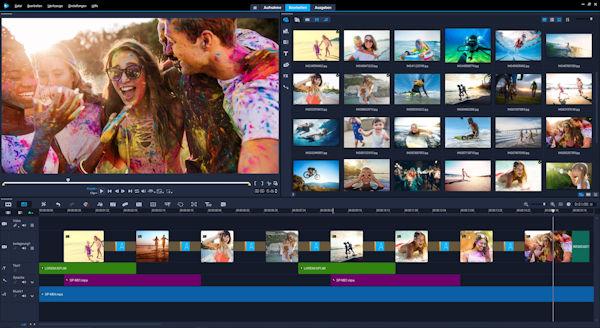 VideoStudio Ultimate 2018 User Interface DE