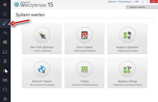 Ashampoo WinOptimizer - System warten - unnötige Dateien und Surf-Spuren löschen