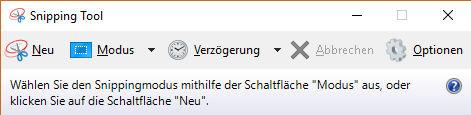 Windows Snipping Tool zum Aufnehmen von Screenshots