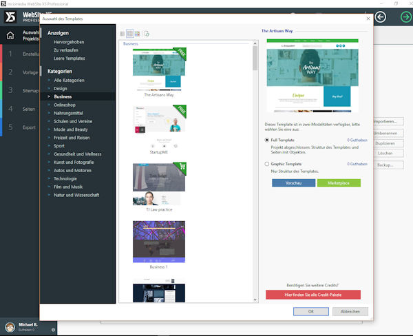 WebSite X5 Version15 mit Update Protection