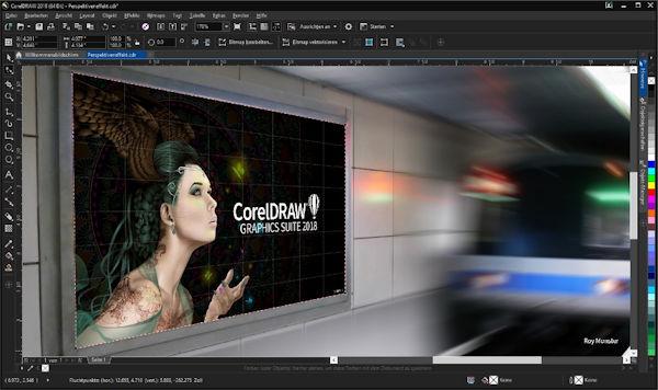 CorelDraw 2018 Perspektive hinzufügen