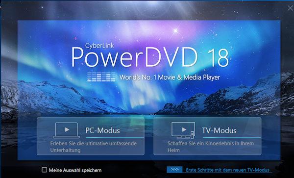 Power DVD 18 Ultra mit TV-Modus