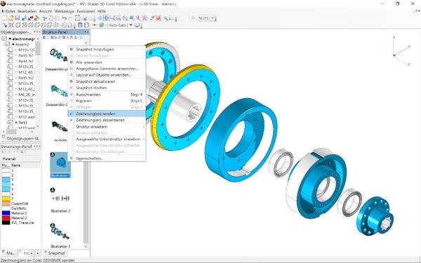 XVL Studio 3D, enthalten in CorelDraw Technical Suite 2018