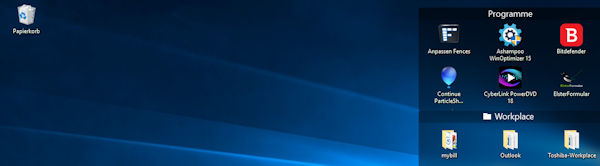 Stardock Fences - Ordnung auf dem Windows Desktop
