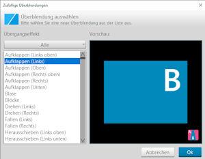 Ashampoo Slideshow-studio-HD4 Überblendungseffekte
