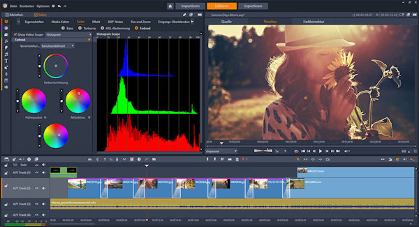 Corel Pinnacle Studio: Color Grading