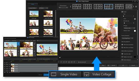 PowerDirector 17 Dynamische Videocollagen