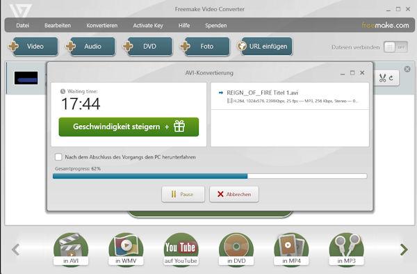 FreeMake Video Converter: DVD rippen