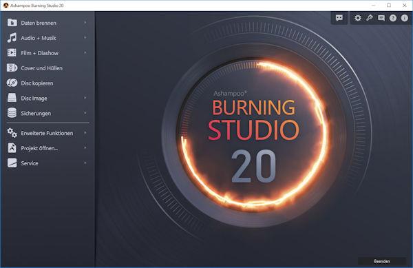 Ashampoo Burning Studio 20 Cover Studio