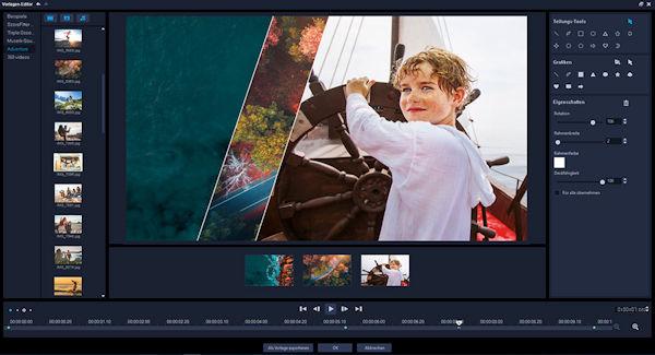 Corel VideoStudio2019 Splitscreens