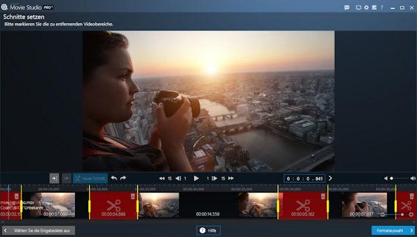ashampoo movie studio pro 3 - Szenen herausschneiden