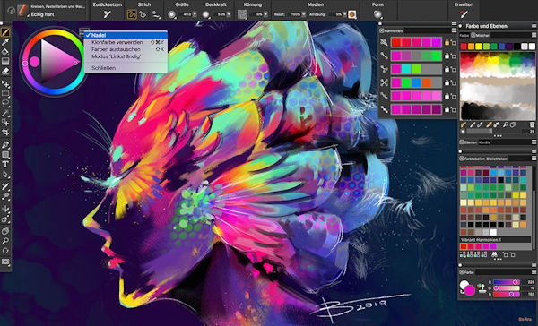 Corel Painter 2020 Farbauswahl