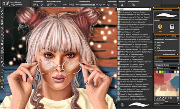 Corel Painter 2020 Performance-steigerungen