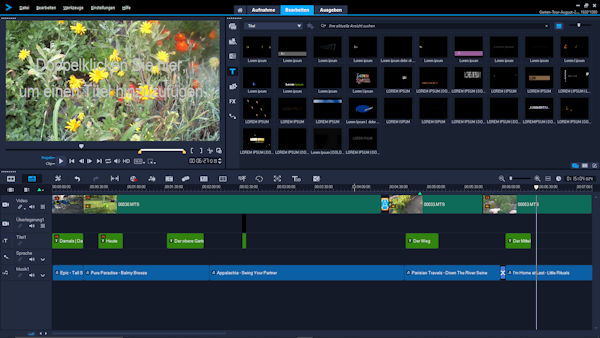 Garten Tour Video mit Corel Video Studio Ultimate 2019