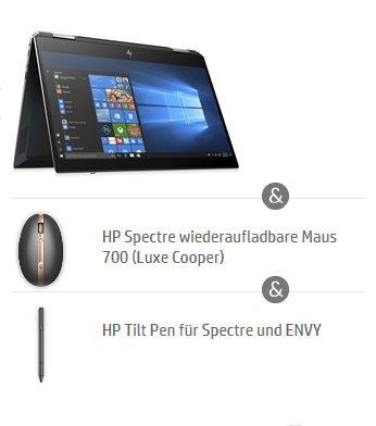HP Spectre Bundle mit Maus und HP Pen
