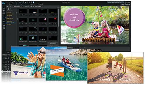 PowerDirector 18 Grafikelemente und Titel kombinieren