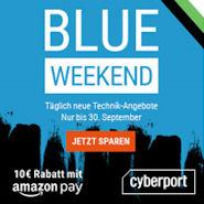 Cyberport BLUE WEEKEND mit vielen Technik Angeboten vom Notebook bis zur Grafikkarte