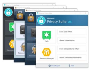 Steganos Privacy Suite 21 - sicherer Schutz für Daten und Passwörter