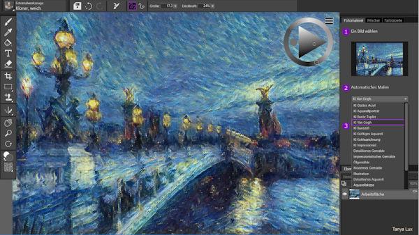 Corel Painter Essentials 7  - mit KI Fotos in faszinierende Gemälde verwandeln