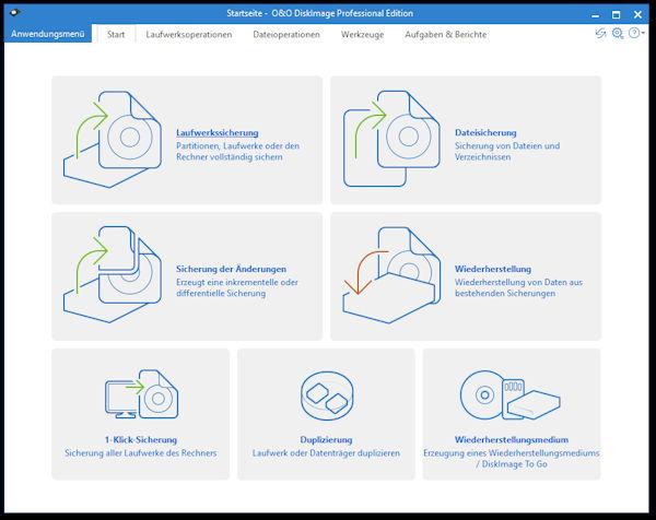 O&O DiskImage - komfortable Datensicherung, auch mit Plug&Play Funktionalität