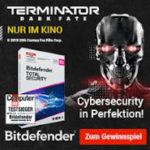 Bitdefender Dark Fate Promotion mit 50% Rabatt auf Bitdefender Total Security 2020 und Gewinnspiel plus Kinotrailer
