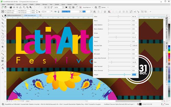 CorelDraw 2020 - neue Typographie Funktionen