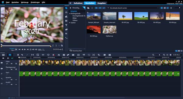 Corel VideoStudio 2020 mit Highlight Reel Video Clip