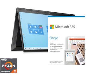 HP ENVY x360 15-ee0154ng inkl. Office-Paket Microsoft Single 365