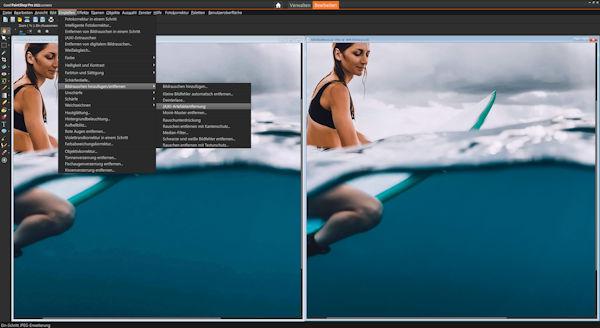 PaintShop Pro 2021 - KI - basiert Artafakte entfernen