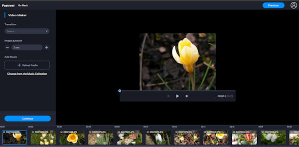 Movavi Fastreel Online Video Editor Bearbeitungsbereich