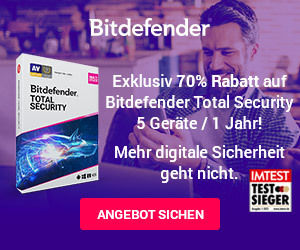 Bitdefender Total Security mit Exklusiv 70% Rabatt