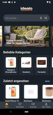 idealo.de app - Produktsuche
